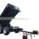 1.5T load capacity Hydraulic tipping farm trailer,atv dumper trailer,utility trailer