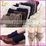 Hot Sale New Women Ladies Crochet Knitted Boot Cuffs Toppers Knit Leg Warmers Winter Short Liner Boot Socks