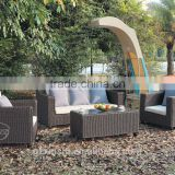 classic outdoor furniture PE rattan/wicker patio sofa set guangzhou supplier factory price