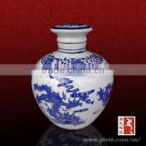 Handpainted chinese dragon blue and white porcelain empty wine bottles for new year decoration