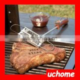 UCHOME BBQ Meat Branding iron with changeable letters Personality Steak Meat Barbecue BBQ Tool Changeable 55 Letters
