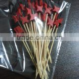 Star shape bamboo skewer
