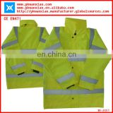 class3 reflective safety parka with sealing and waterproof