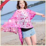 wholesale ladies' new beach wear cover up tunic cardishawl blouse women fashion tops