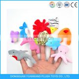 Baby story plush finger puppet set toys stuffed sea animal