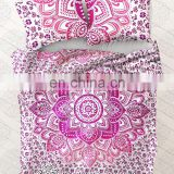 Ethnic Indian Mandala Duvet Cover Throw Indian Ombre Quilt Doona Cover With Pillow Cover