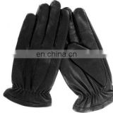custom made black winter high quality sheepskin leather gloves