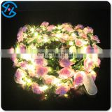 Light up artificial rose flowers for festive