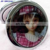 Cute Barbie doll fashion promotional matel pocket mirror