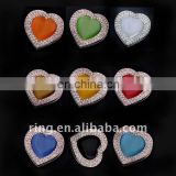 Colorful heart enamel crystal bag punching hook