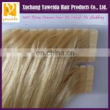 High quality skin weft remy european tape hair extensions
