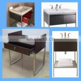 stainless chrome stand for ceramic bathroom cabinet