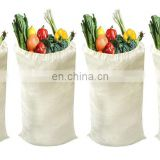 Lightweight Durable Reusable Grocery Tote Bags, Multipurpose Muslin Bags with Drawstring