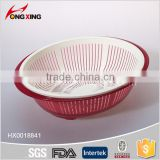 Kitchen accessories Plastic Mesh Colanders with tray