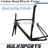 Road bike V-brake Frame UD/3K full carbon fibre frame carbon bicycle frame+carbon fork+carbon seatpost