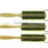 high quality nature bamboo rotating hair brush