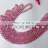 Wholesale Natural Pink Sapphire Faceted Roundelle Beads