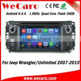 Wecaro WC-JC6235 Android 4.4.4 navigation indash for jeep wrangler radio 2007 - 2013 BT gps 3g TV