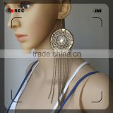 alloy jewelry copper brass plating gold beautiful 2015 earring