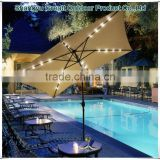 High quality popular solar light umbrella With crank tilt Patio furniture parts great parasols