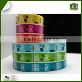 Transparent Colorful Label Custom Adhesive Clear Label