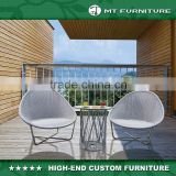 Balcony Funiture Outdoor Metal and Wicker Patio Set
