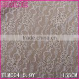 "Stock Manufacturer New Design 63.26"" Warp Knitting White Nylon Spandex Wedding Dress Lace Cloth"