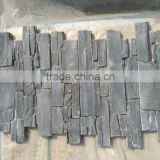 black natural slate cement stone