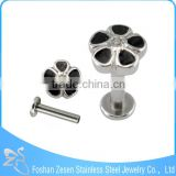 Direct Supplier Steel Flower Design Labret Piercings Stud Free Sample Lip Rings