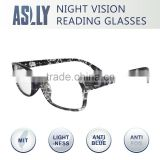 Computer reading glasses with anti reflective anti blue light lens , night vision glasses , yellow lens , reading glasses