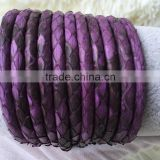 2016 High Class #30 Purple Color Leather Python-skin True Snake Skin Luxury Sting String Cord for Bracelet Material High End