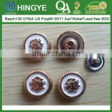Lion Head Logo Zinc Alloy Cap Metal Rivets --- RZ1412003