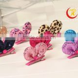2015 New coming Girls sequin min mouse hair clips Kids wholesale hair bow Children Hair Accessory CB-3665