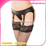 Fashion Lace Thong Sexy Black NO MOQ Hot Sale High Quality 2016 New Design Women Garter Belt