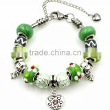 Fashion 7/7.5/8 inch Peridot Theme Wholesale Charms Bracelet Charms Stainless Steel Charms