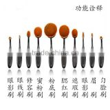 Fashion Newest 10pcs Toothbrush Makeup Brush Set Foundation Powder Multifunction Makeup Brush Tool