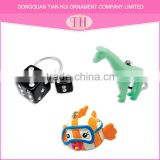 Rubber resin material fish key chain,metal resin fish shaped keychain,OEM custom smart fish keychain