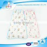 Hot printed bamboo gauze cloth baby sleeping bag Made in China