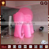 Attractive design outdoor advertising decoration pink elephant character inflatable cartoon