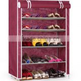 Shoe Wardrobe Portable Cabinet Shelf Clothes Rack Storage Organizer Boots