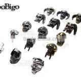 Metal Charm Skull Beads Knife Lanyard Paracord Jewelry Pandent 6 Kinds of Skull for pick