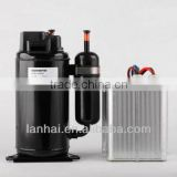 R134A DC 12V mini freon bldc compressor for refrigerator HB075Z12 for solar car 5000 btu air conditioner