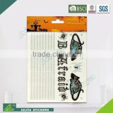 BSCI factory audit Halloween 3D non toxic decorative removable rhinestone alphabet stickers