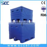 SCC brand top quality 600L fish transfer ice cooler, fish transfer ice box insulated