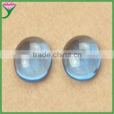 supplier bulk wholesale 107# loose setting oval aquamarine sapphire cabochon for pendant necklace