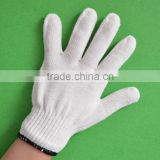 Industrial Safety Knitted White Cotton Hand Work Gloves
