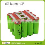 A123 26650 battery pack for motorcycle
