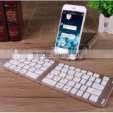 2 IN 1 Slim Bluetooth Wireless Foldable Full Size Keypad Portable Keyboard With Holder Stand For iphone SAMSUNG ipad PC Tablet
