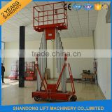 12m two person double mast aluminum alloy man lift                                                                                                         Supplier's Choice