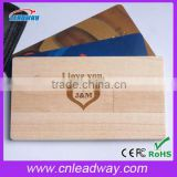 2016 new wood low price 2gb business card usb,bamboo usb business card,custom logo usb credit card